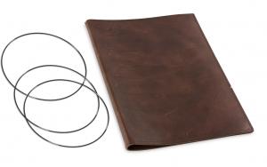 A4+ Hülle Leder Natur für 2 Einlagen, kastanie (1-904-2D1-W1)
