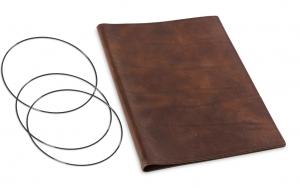 A4+ Hülle Leder Natur für 2 Einlagen, kastanie (1-904-2D1-W3)