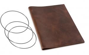 A4+ Hülle Leder Natur für 2 Einlagen, kastanie (1-904-2D1-W4)