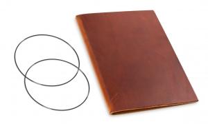 A5 Leder natur für eine Einlage, brandy (1-905-1BR1-W1)