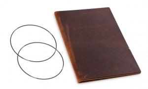 A5 Leder natur für eine Einlage, marone (1-905-1M1-W1)