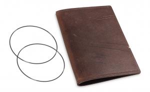 A6 Leder natur für eine Einlage, kastanie (1-906-1D1-W2)