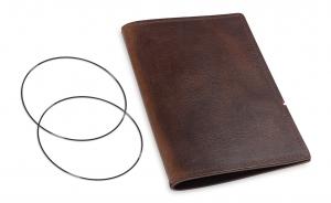 A6 Leder natur für eine Einlage, kastanie (1-906-1D1-W5)