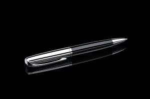 Stift N°1: Kugelschreiber chrom/schwarz