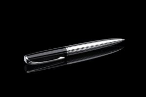 Stift N°1: Drehbleistift 0,7 mm schwarz/chrom