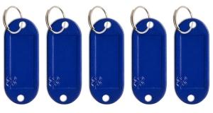 Schlüsseletikett Lefa blau, 5er Pack