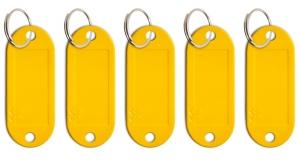 Schlüsseletikett Lefa gelb, 5er Pack