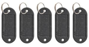 Schlüsseletikett Lefa graphit, 5er Pack
