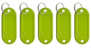 Schlüsseletikett Lefa grün, 5er Pack