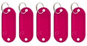 Schlüsseletikett Lefa magenta, 5er Pack