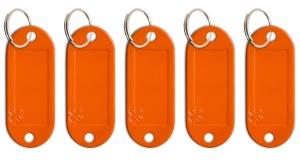 Schlüsseletikett Lefa orange, 5er Pack