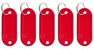 Schlüsseletikett Lefa rot, 5er Pack