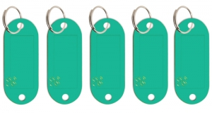 Schlüsseletikett Lefa türkisgrün, 5er Pack