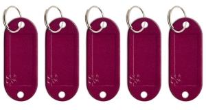 Schlüsseletikett Lefa violett, 5er Pack
