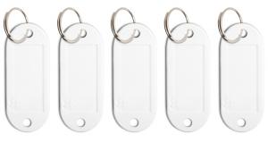 Schlüsseletikett Lefa weiß, 5er Pack