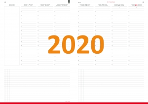 A4+ Wochenkalender CLASSIC 2020 inkl. Leporello