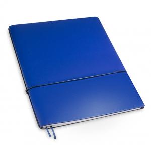 A4+ 1er Lefa beschichtet blau mit 1 x Notizen und Doppeltasche