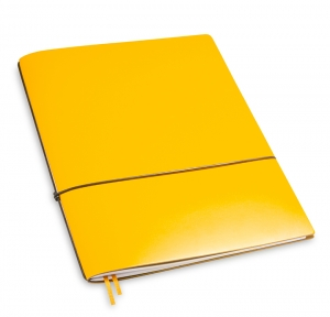 A4+ 1er Lefa beschichtet gelb mit 1 x Notizen und Doppeltasche