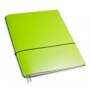 A4+ 1er Lefa beschichtet grün mit 1 x Notizen und Doppeltasche