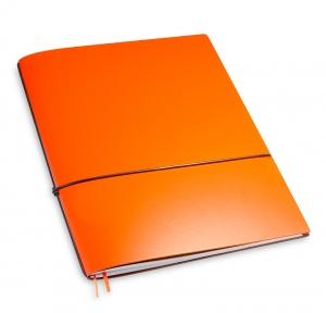 A4+ 1er Lefa beschichtet orange mit 1 x Notizen und Doppeltasche