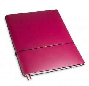 A4+ 1er Lefa beschichtet violett mit 1 x Notizen und Doppeltasche