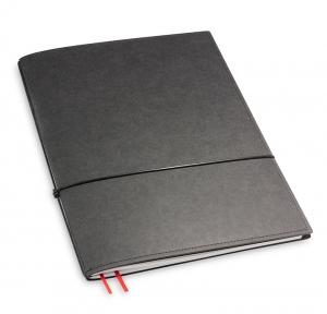 A4+ 1er Texon schwarz mit 1 x Notizen und Doppeltasche