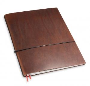 A4+ 1er Leder natur marone mit 1 x Notizen und Doppeltasche