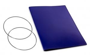 A4+ Hülle 1er Leder glatt blau inkl. ElastiXs