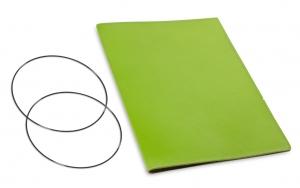 A4+ Hülle 1er Leder glatt grün inkl. ElastiXs