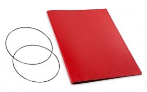 A4+ Hülle 1er Leder glatt rot inkl. ElastiXs
