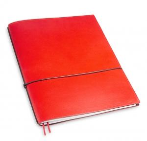 A4+ 1er Leder glatt rot mit 1 x Notizen und Doppeltasche