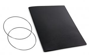 A4+ Hülle 1er Leder glatt schwarz inkl. ElastiXs