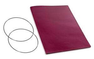 A4+ Hülle 1er Leder glatt violett inkl. ElastiXs