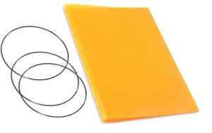 A4+ Hülle 2er HardSkin mandarine inkl. ElastiXs