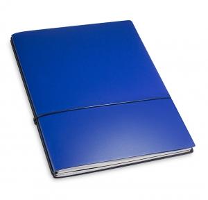 A4+ 2er Lefa beschichtet blau mit 2 x Notizen und Doppeltasche