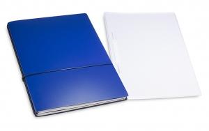 A4+ 2er Projektmappe Lefa beschichtet blau mit 2 x Notizen, Doppeltasche und Schnellhefter