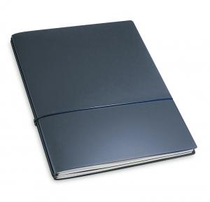 A4+ 2er Lefa beschichtet dunkelblau mit 2 x Notizen und Doppeltasche