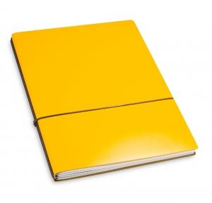 A4+ 2er Lefa beschichtet gelb mit 2 x Notizen und Doppeltasche