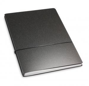 A4+ 2er Lefa unbeschichtet graphit mit 2 x Notizen und Doppeltasche