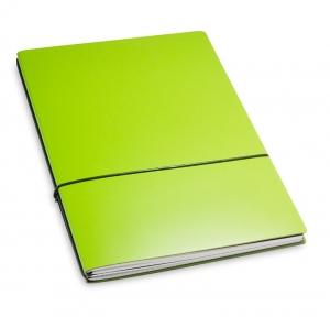 A4+ 2er Lefa beschichtet grün mit 2 x Notizen und Doppeltasche