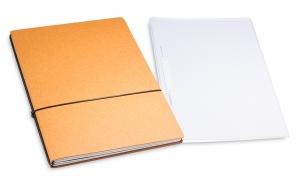 A4+ 2er Projektmappe Lefa natur mit 2 x Notizen + Doppeltasche + Schnellhefter