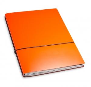 A4+ 2er Lefa beschichtet orange mit 2 x Notizen und Doppeltasche