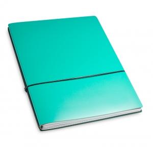 A4+ 2er Lefa beschichtet türkisgrün mit 2 x Notizen und Doppeltasche