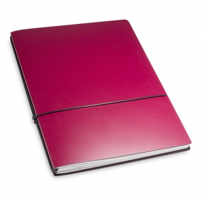 A4+ 2er Lefa beschichtet violett mit 2 x Notizen und Doppeltasche