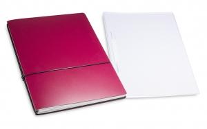 A4+ 2er Projektmappe Lefa beschichtet violett mit 2 x Notizen, Doppeltasche und Schnellhefter