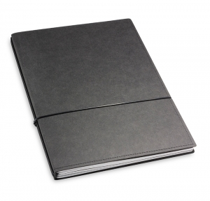 A4+ 2er Texon schwarz mit 2 x Notizen und Doppeltasche
