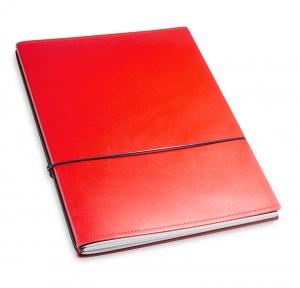 A4+ 2er Leder glatt rot mit 2 x Notizen und Doppeltasche