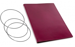 A4+ Hülle 2er Leder glatt violett inkl. ElastiXs
