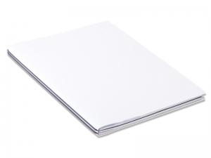 A4+ 2er Projektmappe HardSkin weiß (blickdicht) mit 2 x Notizen, Doppeltasche und Schnellhefter
