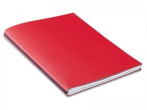 A4+ Außendienstmappe ModeSkin rot mit 2 x Notizen + Doppeltasche + Schnellhefter